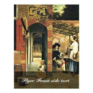 Tippling dos hombres y a una mujer debajo de un folleto 21,6 x 28 cm
