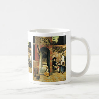 Tippling Two Men And A Woman Under An Arbor In The Coffee Mug
