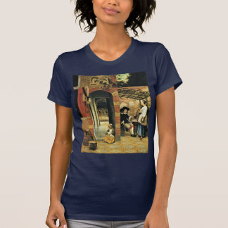 Tippling Two Men And A Woman Under An Arbor In The T Shirts
