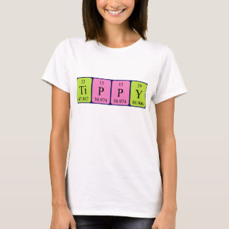 Tippy periodic table name shirt