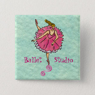 Tippy Toes Ballerina Pinback Button