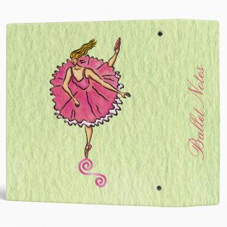 "Tippy Toes Ballet Notes 2"" Binder"