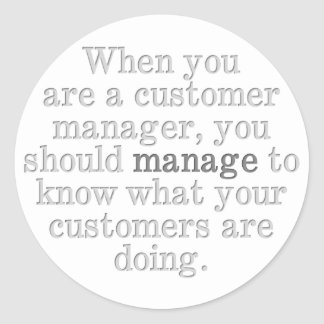 Tips for Customer Management Classic Round Sticker