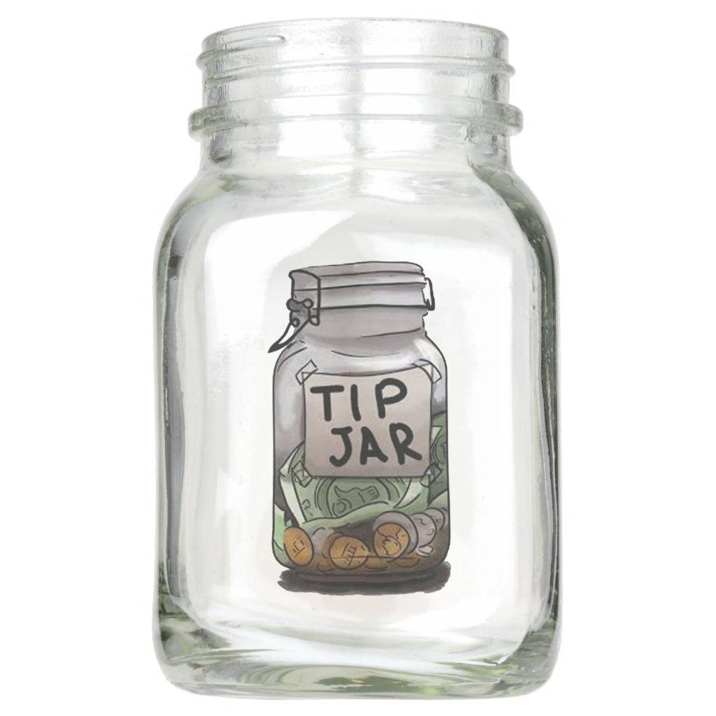 Tips Mason Jar