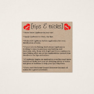 Tips & Tricks Lipstick Square Business Card