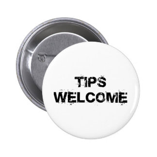 Tips Welcome 2 Inch Round Button