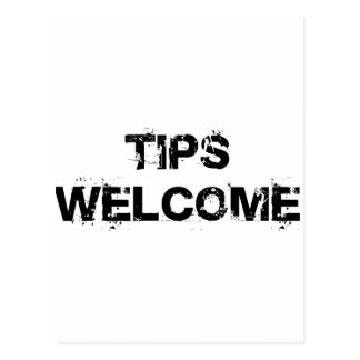 Tips Welcome Postcard
