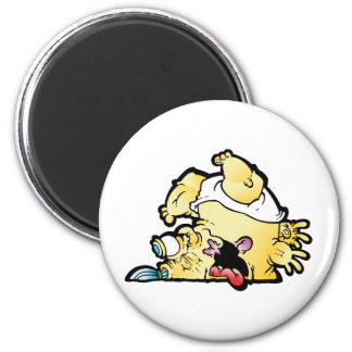 tipsy 2 inch round magnet