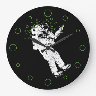 Tipsy Astronaut Large Clock