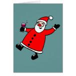 Tipsy Santa Card