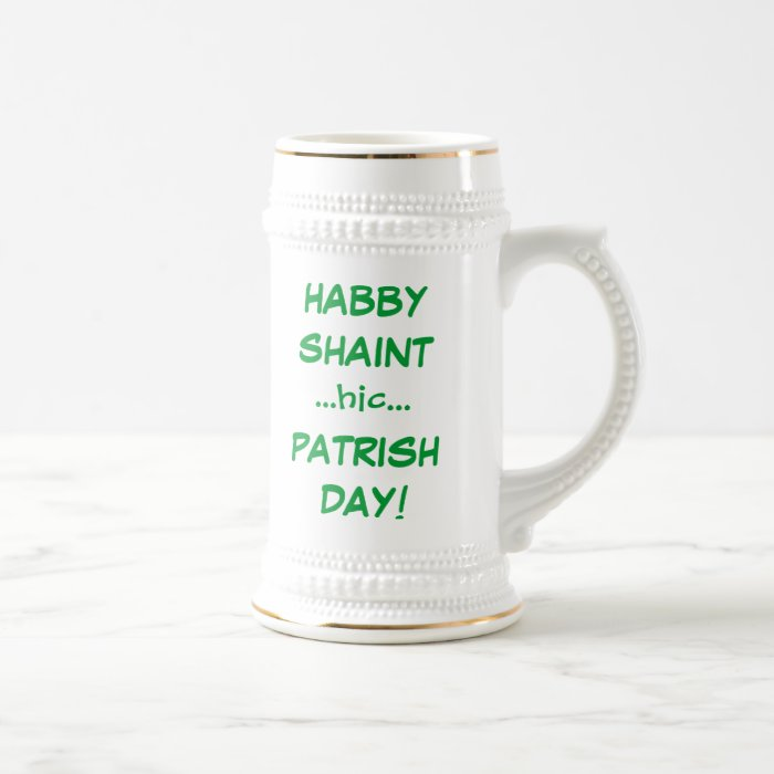 Tipsy Slurring Words St Patricks Day Funny Beer Stein