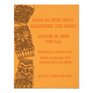 Tipsy Tiki Totem Halloween Holiday Luau Party - Card