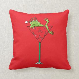 Tipsy-tini's Frog Throw Pillow