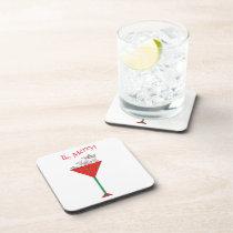 Tipsy-tini's Rabbit Drink Coaster