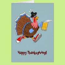 Tipsy Turkey (Beer) Card