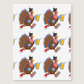Tipsy Turkey (Beer) Temporary Tattoos