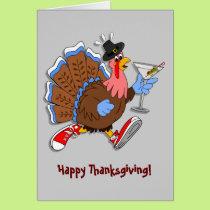 Tipsy Turkey (Martini) Card