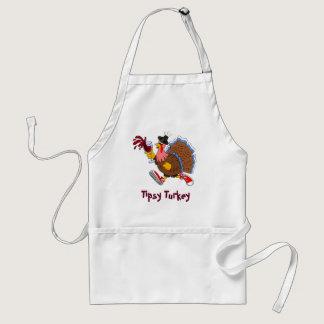 Tipsy Turkey (Wine) Adult Apron