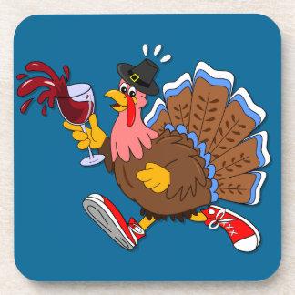 Tipsy Turkey (Wine) Beverage Coaster