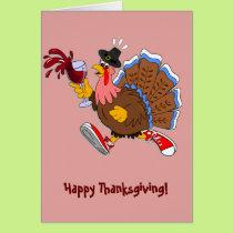 Tipsy Turkey (Wine) Card