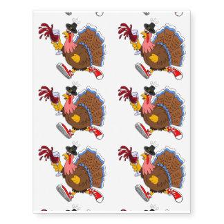 Tipsy Turkey (Wine) Temporary Tattoos