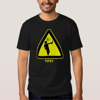 Tipsy Warning Sign Dark T-Shirt