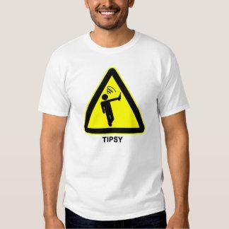 Tipsy Warning Sign T-Shirt