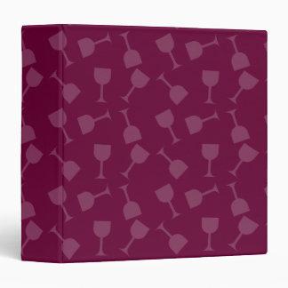 Tipsy Wine Glasses 3 Ring Binder