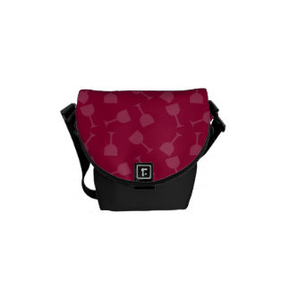 Tipsy Wine Glasses Courier Bag