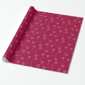 Tipsy Wine Glasses Wrapping Paper