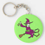 Tipsy Witch Basic Round Button Keychain