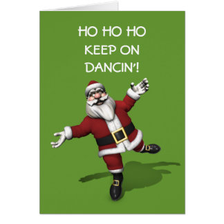 Tiptoe Dancing Santa Claus Card