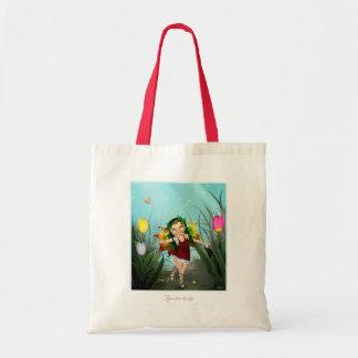 Tiptoe threw the tulips tote bags