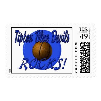 Tipton Basketball Rocks Stamps