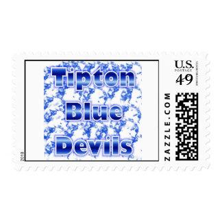Tipton Blue Devils Postage Stamp