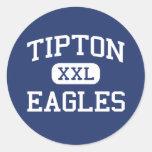 Tipton - Eagles - High School secundaria - Tipton Etiqueta Redonda