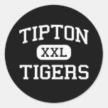 Tipton - Tigers - High School - Tipton Oklahoma Classic Round Sticker