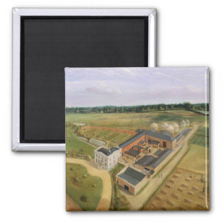 Tiptree Hall and Farm, Essex, c.1850-60 (oil on ca 2 Inch Square Magnet