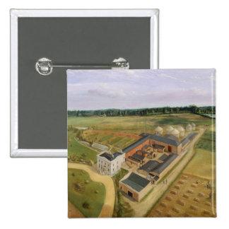 Tiptree Hall and Farm, Essex, c.1850-60 (oil on ca Button