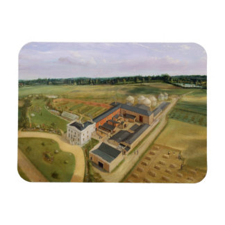 Tiptree Hall and Farm, Essex, c.1850-60 (oil on ca Magnet