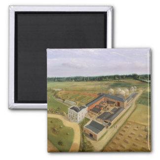 Tiptree Hall and Farm, Essex, c.1850-60 (oil on ca Magnet