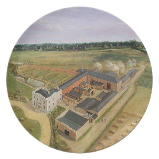 Tiptree Hall and Farm, Essex, c.1850-60 (oil on ca Melamine Plate