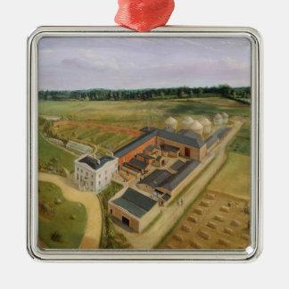 Tiptree Hall and Farm, Essex, c.1850-60 (oil on ca Metal Ornament