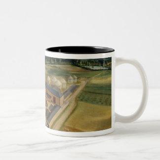 Tiptree Hall and Farm, Essex, c.1850-60 (oil on ca Two-Tone Coffee Mug