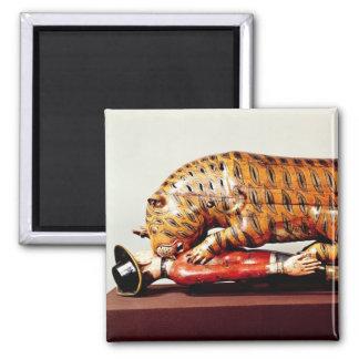 Tipu's Tiger, c.1790 (wood) 2 Inch Square Magnet