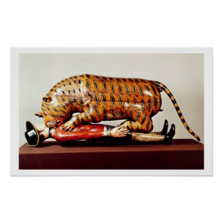 Tipu's Tiger, c.1790 (wood) Poster