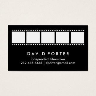 Tira blanco y negro de la película tarjetas de visita