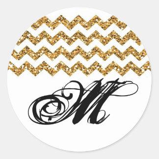 tira de Chevron del brillo del oro del sello de 20 Etiquetas