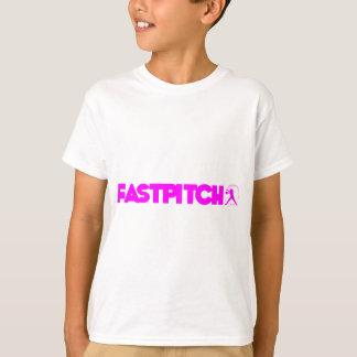 Tira de Fastpitch, rosa fuerte Playera