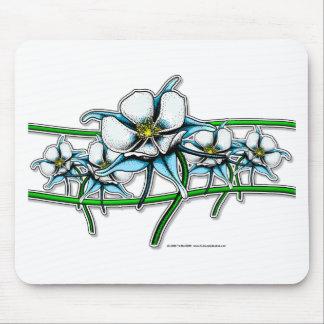 Tira de la flor de Columbine Tapete De Ratón